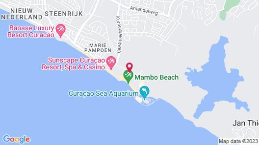 Kontiki Beach Resort Curaçao Map