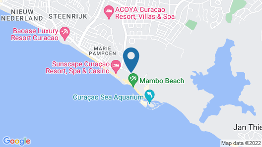 Kontiki Beach Resort Curaçao Map