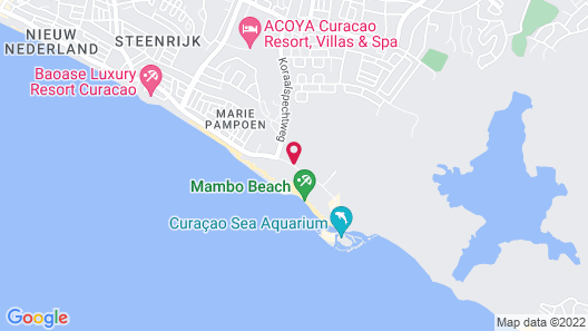 The Beach House Curacao Map