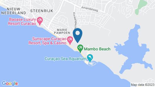 The Beach House Curacao Map