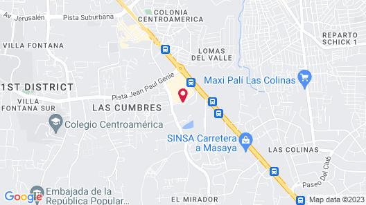 Hyatt Place Managua Map