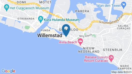 Bed & Bike Curacao Hostel Map