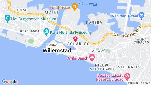 First Curacao Hostel Map