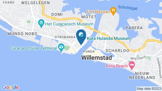 E M City Hotel Curacao Map