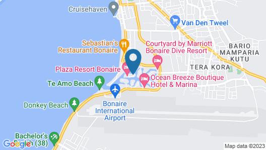 Van der Valk Plaza Beach & Dive Resort Bonaire Map