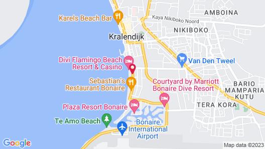 Divi Flamingo Beach Resort & Casino Map