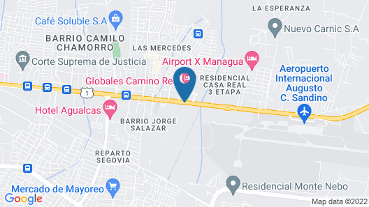 Hotel Globales Camino Real Managua Map