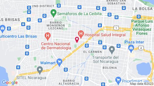 Art Hotel Managua Nicaragua Map