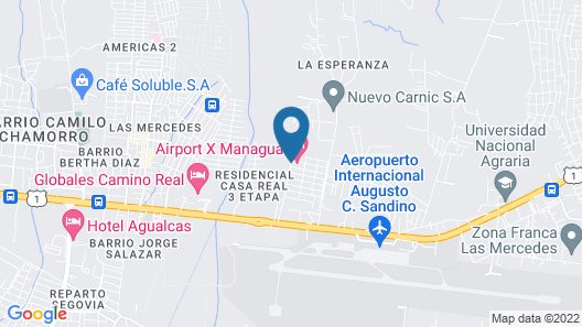 Airport X Managua Hotel Map