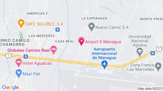 Airport Inn Managua Map