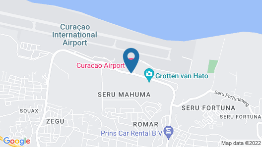 Curaçao Airport Hotel Map