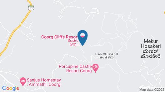 Coorg Cliffs Resort Map