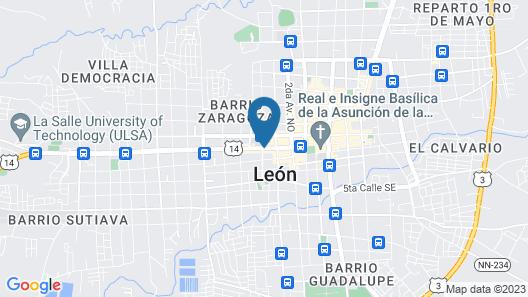 Hotel El Portal 1610 Map