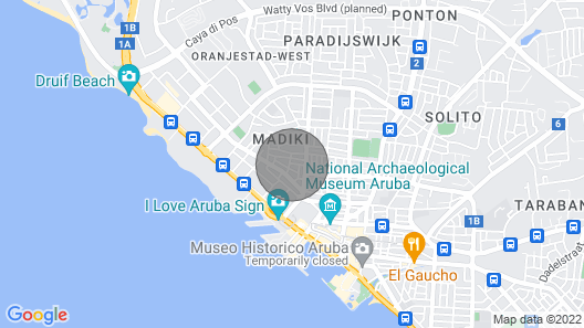 Large Studio in heart of Oranjestad Map
