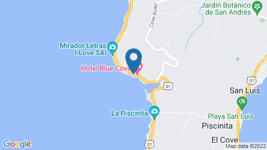 Hotel On Vacation Blue Cove  Map