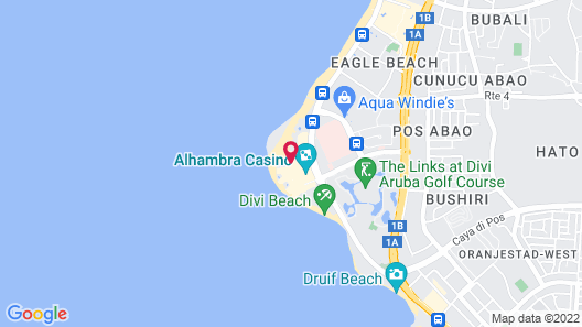 Manchebo Beach Resort and Spa Map