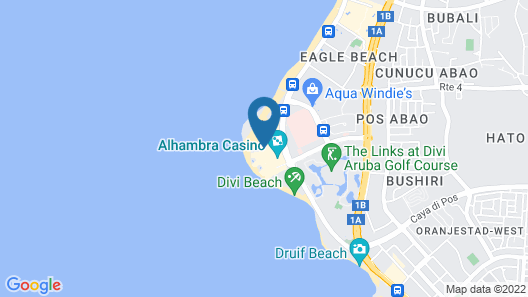 Manchebo Beach Resort and Spa Map