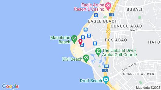 Bucuti & Tara Beach Resort - Adults Only Map