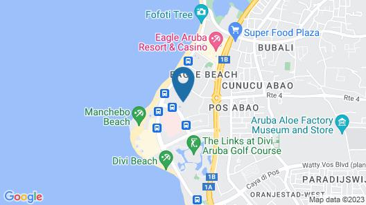 Dorado Eagle Beach Hotel Map