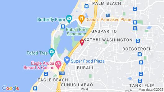 Little Jungle Apartments Aruba Map