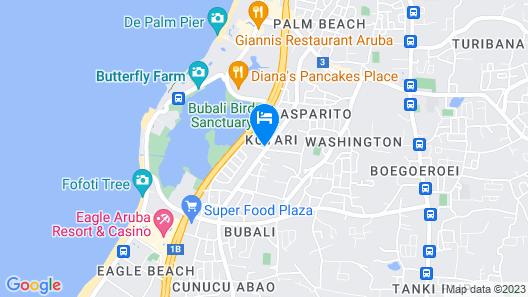 Little Cactus Apartments Aruba Map