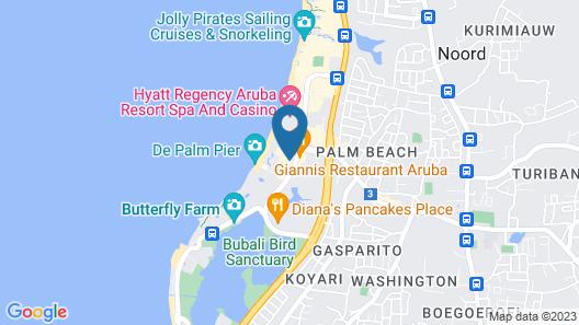 Radisson Blu Aruba Map