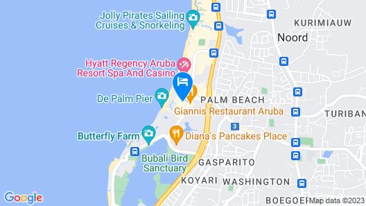 Hilton Aruba Caribbean Resort and Casino Map
