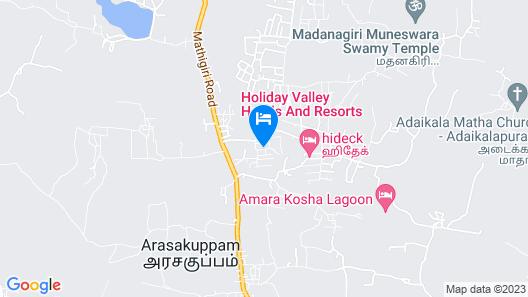 Holiday Valley Nature Resorts Map
