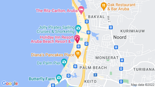 Holiday Inn Resort Aruba-Beach Resort & Casino, an IHG Hotel Map