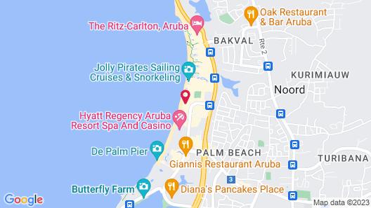 All Inclusive Holiday Inn Resort Aruba Map