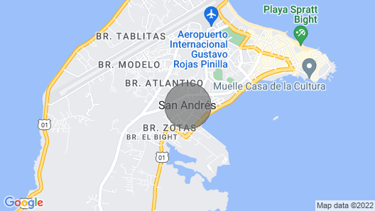 South End Villas- Caribbean delight 3 Map