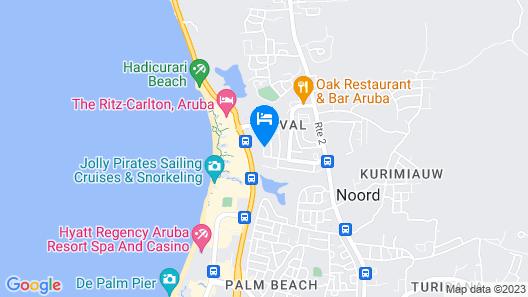 Modern Hotel Aruba Map