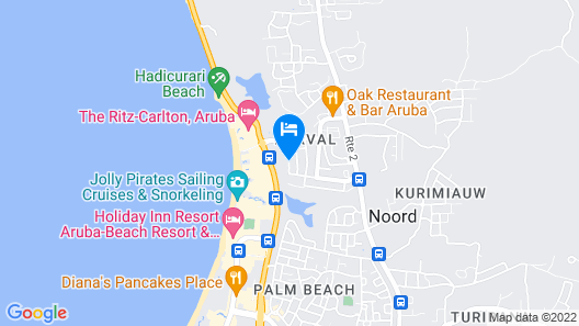 Karibu Aruba Boutique Hotel Map