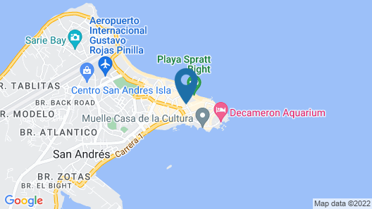 Sol Caribe San Andres - All Inclusive Map