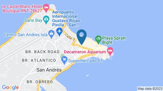 Apartahotel Las Américas Map