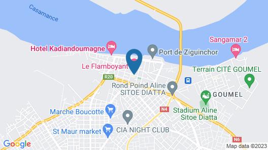 Hotel Le Flamboyant Map