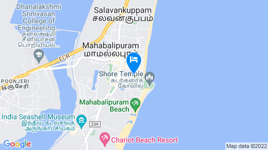 Oceanside Hotel Mahabalipuram Map