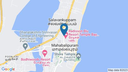 Radisson Blu Resort Temple Bay Mamallapuram Map