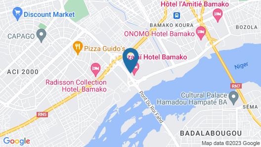 Azalaï Hotel Bamako Map