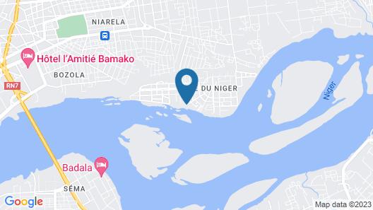 Hôtel Mandé Map