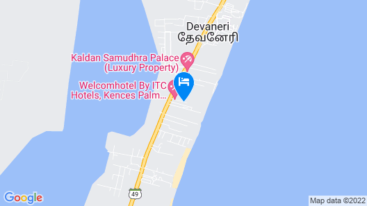 WelcomHotel Kences Palm Beach -Member ITCHotel Group Map