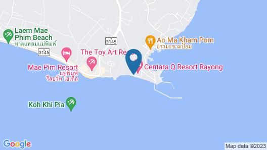 Baansuan Aokhai Beach Resort Map