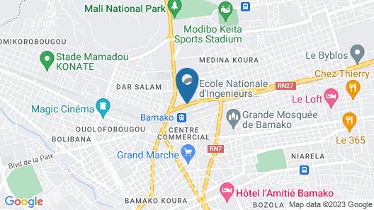 Grand Hotel Bamako Map