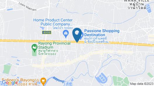 PLAAI Plus Hotel Rayong Map