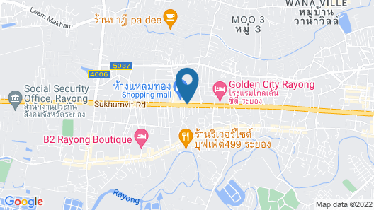 Holiday Inn & Suites Rayong City Centre Map