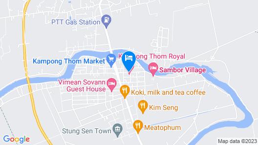 Kampong Thom Royal Hotel & Restaurant Map