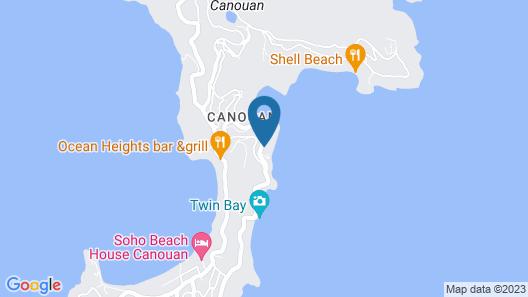 Mandarin Oriental, Canouan Map