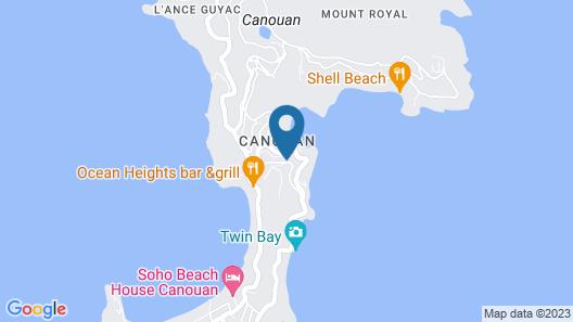 Canouan Estate Resort & Villas  Map