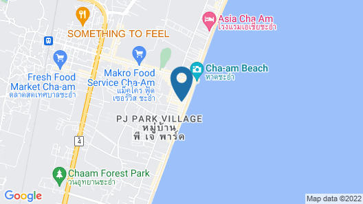 The Beach Cha Am Guest House Map