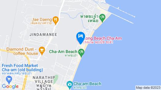 Cha Am Lodge Steakhouse Map